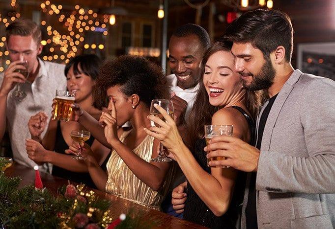 Bedrijfsfeestdokter kerst en nieuwjaarsfeest