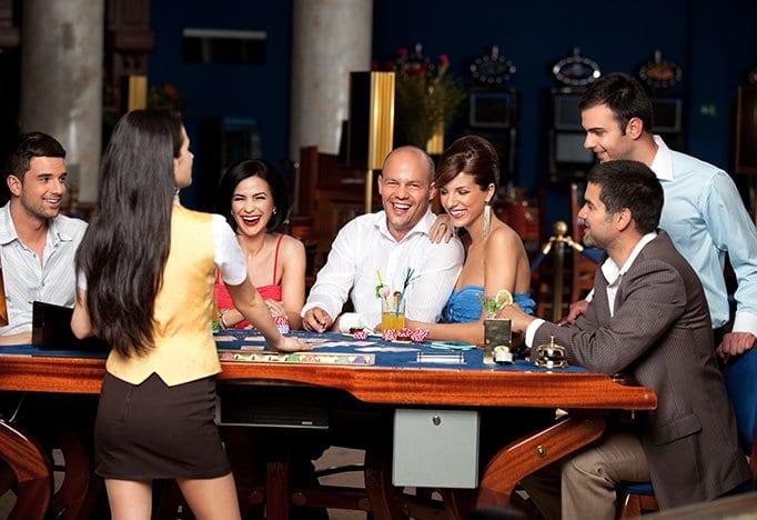 Bedrijfsfeestdokter feestthema las vegas party